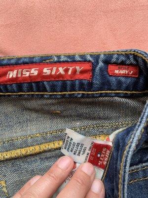 Miss Sixty Jeansy z prostymi nogawkami biały-ciemnoniebieski
