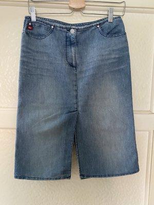 Miss Sixty Jupe en jeans bleu acier