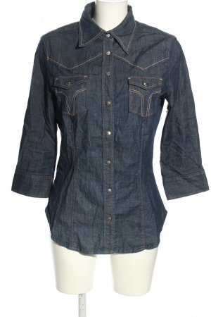 Miss Sixty Jeansbluse blau Casual-Look