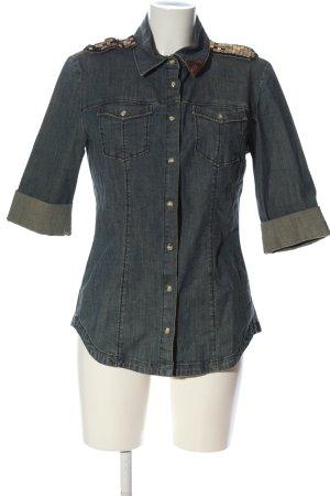 Miss Sixty Chemise en jean bleu style décontracté