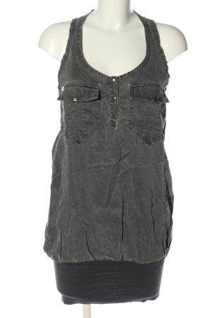 Miss Sixty Robe en jean gris clair style décontracté