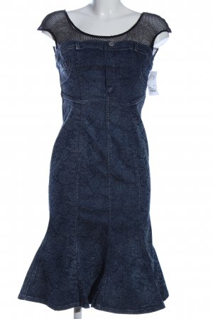 Miss Sixty Denim Dress blue allover print casual look