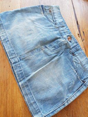 Miss Sixty Jupe en jeans bleu clair