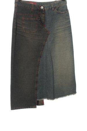 Miss Sixty Jupe en jeans gris clair-bleu style décontracté
