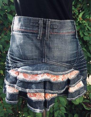 Miss Sixty Jeansowa spódnica Wielokolorowy