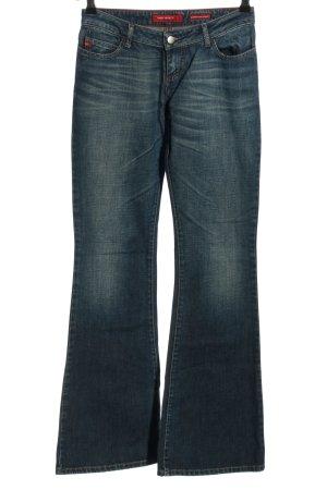 Miss Sixty Jeansowe spodnie dzwony niebieski Bawełna