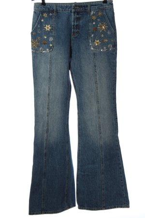 Miss Sixty Jeansowe spodnie dzwony Wielokolorowy W stylu casual