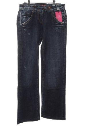 Miss Sixty Jeansschlaghose dunkelblau-weiß Casual-Look