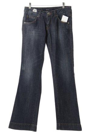 Miss Sixty Jeansschlaghose dunkelblau-wollweiß Used-Optik