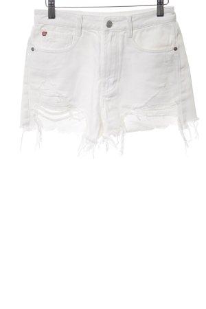 Miss Sixty Jeansshorts weiß-silberfarben Casual-Look