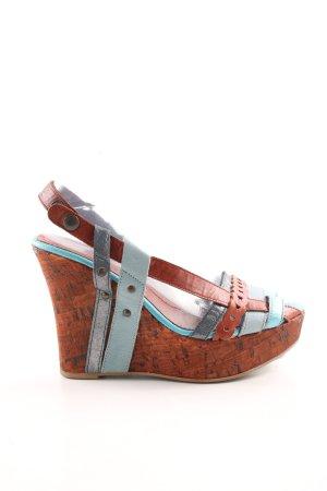 Miss Sixty Keil-Pumps rot-blau Casual-Look