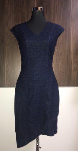 Miss Sixty Vestido elástico azul oscuro-color oro