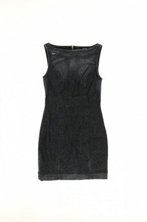 Miss Sixty Kleid Damen Gr. XS Dunkelblau  Jeansblau Top Zustand