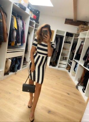 Miss Sixty Sukienka z krótkim rękawem czarny-biały