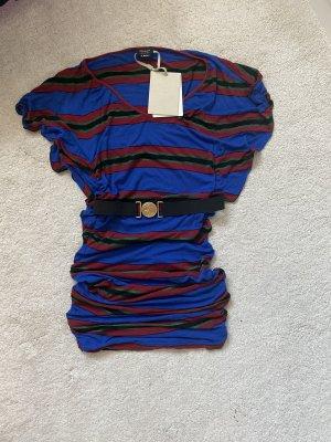 Miss Sixty Sukienka z krótkim rękawem niebieski-czerwony