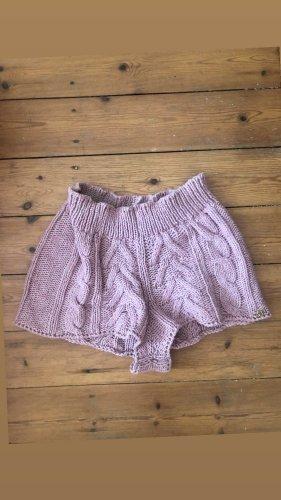 Miss Sixty Knit Strick Shorts Hot Pants Lounge High Waist Häkel Crochet