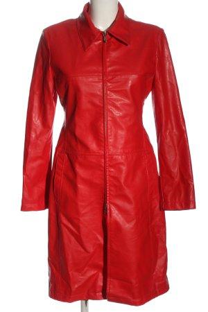 Miss Sixty Abrigo de imitación de cuero rojo look casual