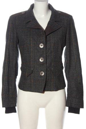 Miss Sixty Blazer corto gris claro-marrón estampado a cuadros look casual