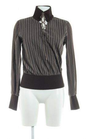 Miss Sixty Langarm-Bluse Streifenmuster Casual-Look