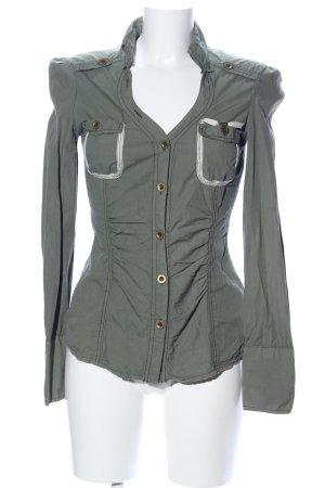 Miss Sixty Long Sleeve Shirt light grey business style