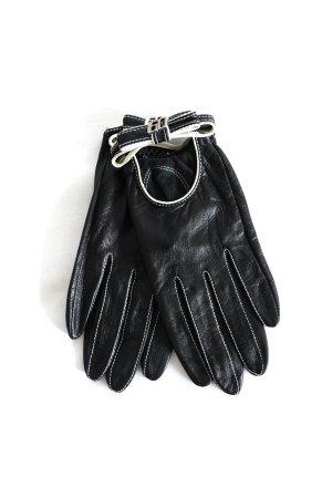 Miss Sixty Leren handschoenen zwart-wolwit