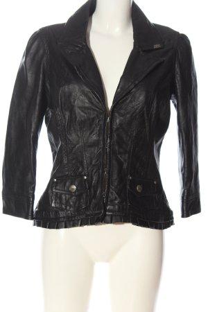 Miss Sixty Veste en cuir noir style décontracté