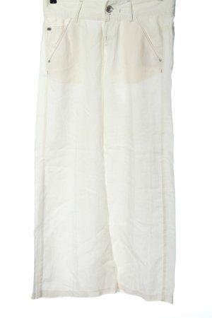 Miss Sixty Lniane spodnie biały W stylu casual
