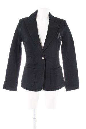 Miss Sixty Long-Blazer schwarz Schriftzug gestickt Casual-Look