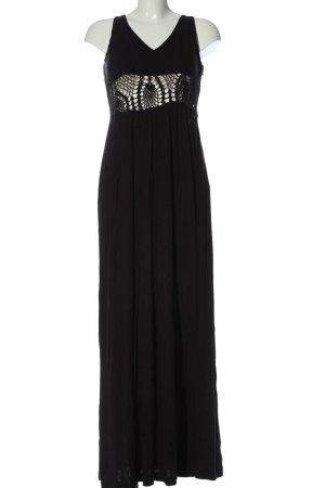 Miss Sixty Maxi abito nero punto treccia stile casual