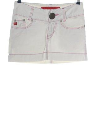 Miss Sixty Minirock weiß-rot Streifenmuster Casual-Look