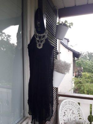 Miss Sixty Sukienka plażowa czarny-srebrny