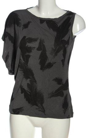 Miss Sixty Camicia monospalla grigio chiaro-nero Stampa a tema stile casual