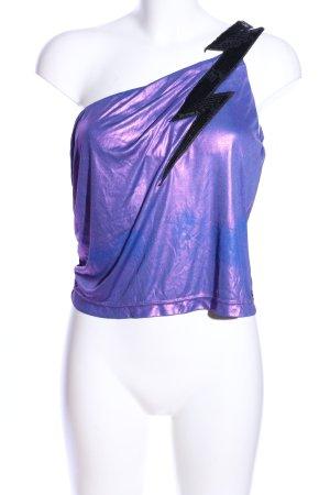 Miss Sixty One-Shoulder-Top lila-schwarz extravaganter Stil