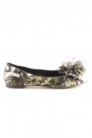 Miss Sixty Peep Toe Ballerinas green allover print casual look