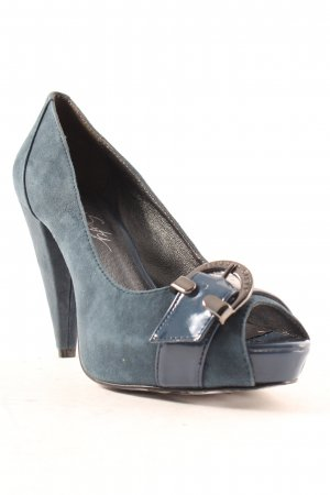 Miss Sixty Peeptoe Pumps petrol Party-Look