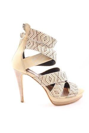 Miss Sixty Platform High-Heeled Sandal graphic pattern elegant