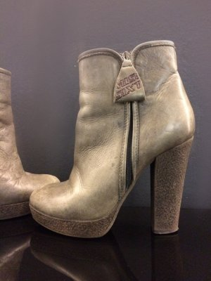 Miss Sixty Bottines à plateforme gris foncé cuir
