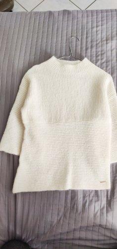 Miss Sixty Sweter z okrągłym dekoltem w kolorze białej wełny