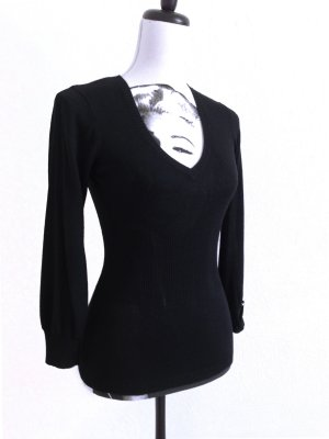 MISS SIXTY Pullover Shirt Top Allrounder black – XS
