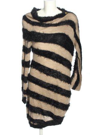 Miss Sixty Pulloverkleid wollweiß-schwarz Allover-Druck Elegant