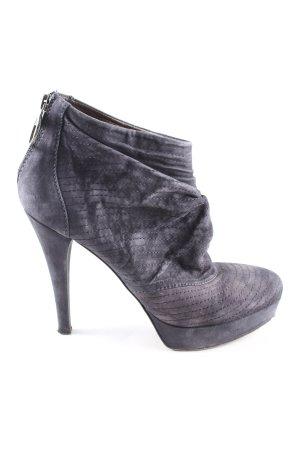 Miss Sixty Reißverschluss-Stiefeletten blau Steppmuster Casual-Look