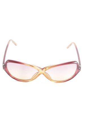 Miss Sixty Retro Brille rot-hellorange Farbverlauf Casual-Look