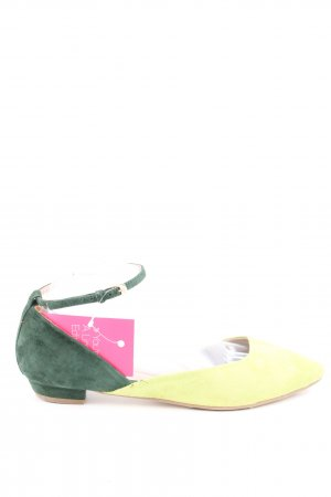 Miss Sixty Riemchen-Sandalen blassgelb-grün Casual-Look