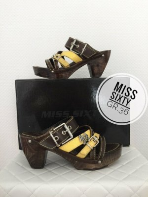 Miss Sixty Sandalen Leder neu marken Mode blogger vintage Sommer Sandalen