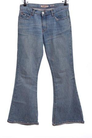 Miss Sixty Pantalone a zampa d'elefante blu stile casual