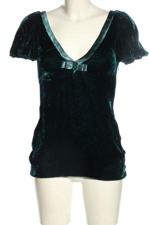 Miss Sixty Schlupf-Bluse schwarz-blau Casual-Look