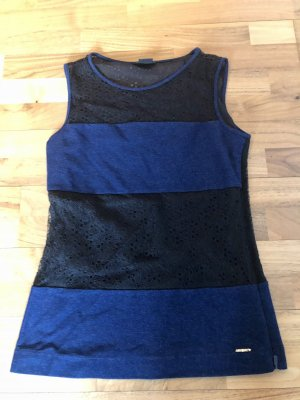 Miss Sixty Kanten topje zwart-donkerblauw