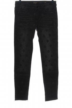 Miss Sixty Skinny Jeans schwarz Punktemuster Casual-Look