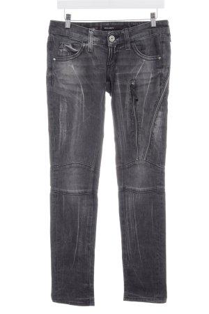 Miss Sixty Skinny Jeans grau-dunkelgrau Logo-Applikation aus Metall