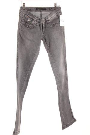 Miss Sixty Skinny Jeans grau Logo-Applikation